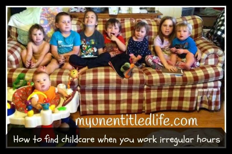 how to find childcare when you work irregular hours