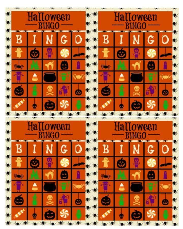 halloween bingo sheets printable