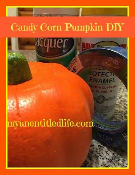 candy corn pumpkin diy
