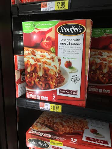 stouffers lasagne dinner