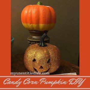 Candy Corn Pumpkin DIY and a prepare for Halloween printable #Treats4All #ad #CollectiveBias