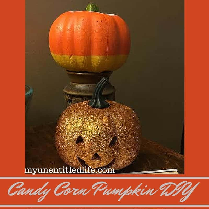 candy corn pumpkin diy craft