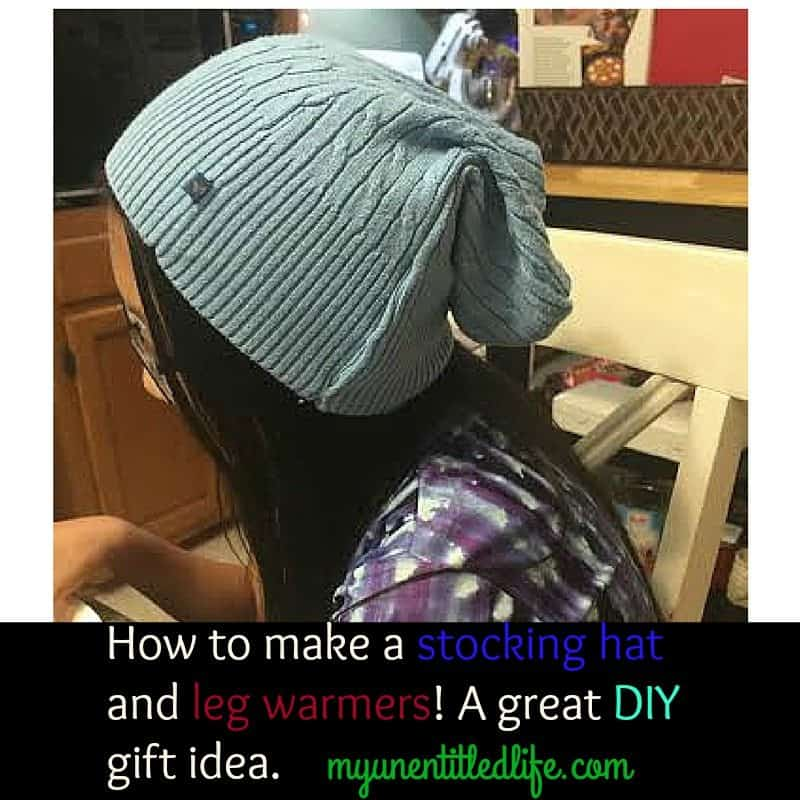 how to make a stocking hat and leg warmers from a sweater a great diy handmade homemade gift idea
