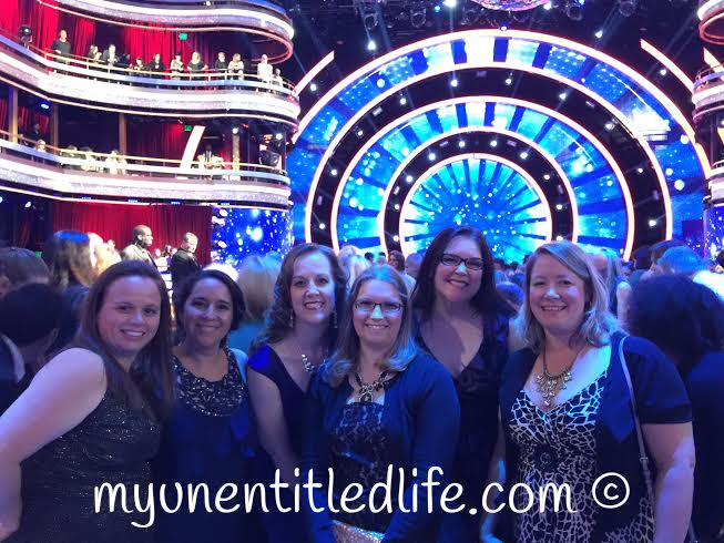 My friends and I at dancing with the stars waiting for the show to start.