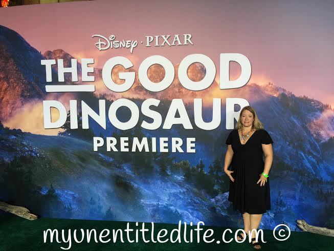 me at the good dino red carpet premier