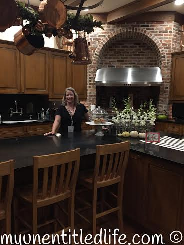me in Rayna James' kitchen
