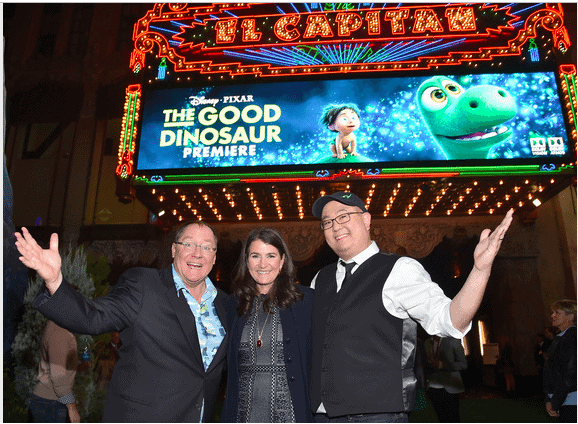 pete sohn denise ream at the good dino premier
