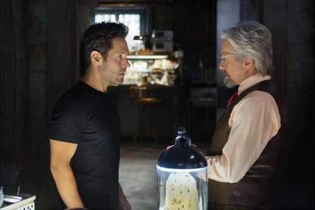 antman paul rudd and michael douglas