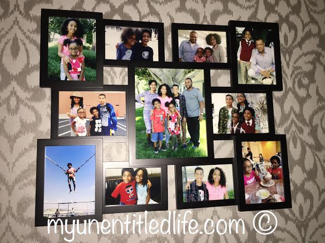 Beautiful family photos on the wall