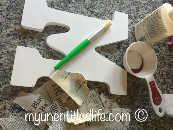 diy gift idea letter monogram