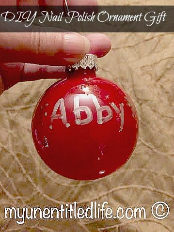 diy nail polish ornament gift idea