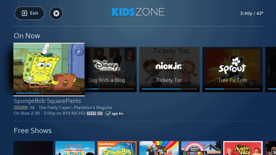 use your dvr with kids zone from xfinity