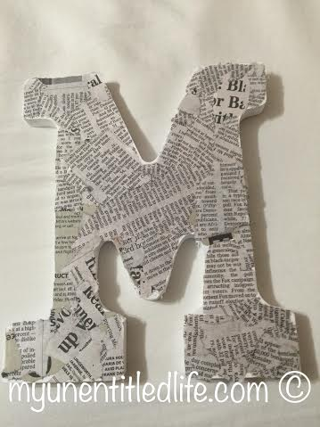 monogrammed letter diy gift idea
