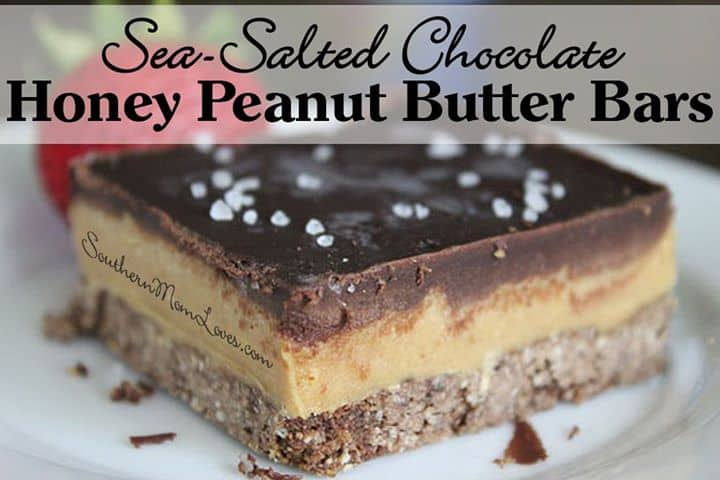 salted caramel peanut butter bars