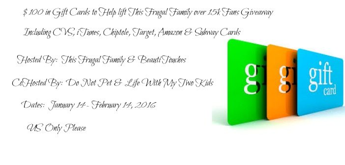 $100 gift card giveaway
