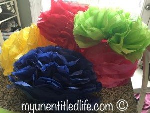 How to make tissue paper flowers #crafts