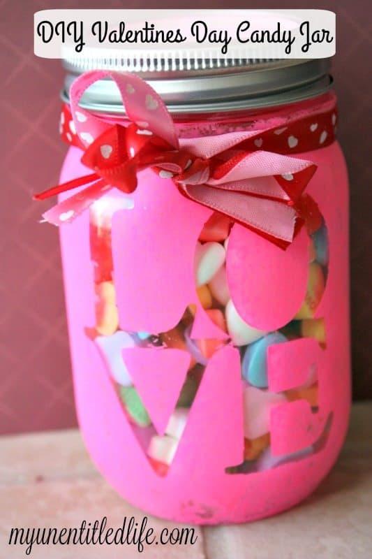 DIY Valentines Day Candy Jar