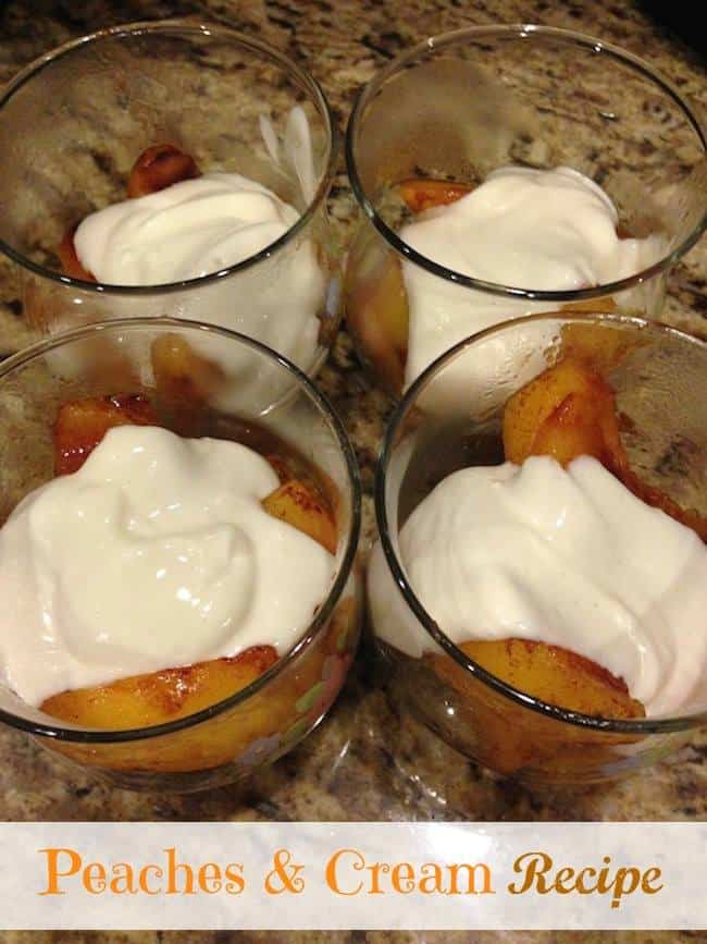 peaches and cream recipe