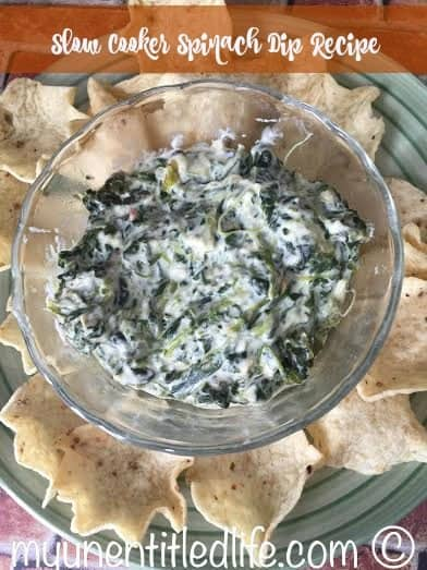 spinach dip in the slow cooker recipe