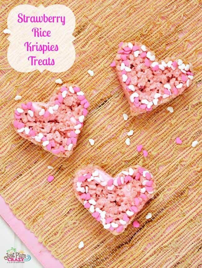 strawberry rice krispy treats