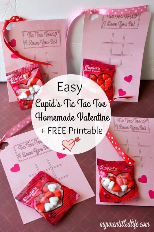 Homemade Cupids Tic Tac Toe