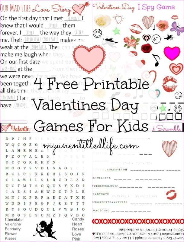 Valentines Day Printable Games