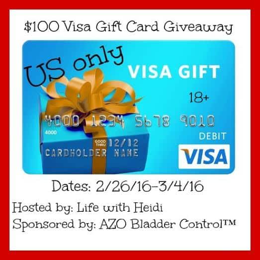 $100 visa giveaway