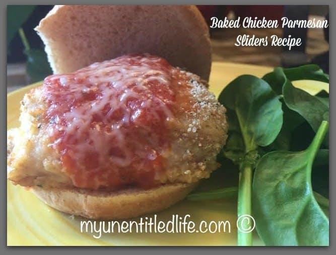 baked chicken parmesan sliders recipe