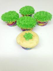 easter egg grass cupcake