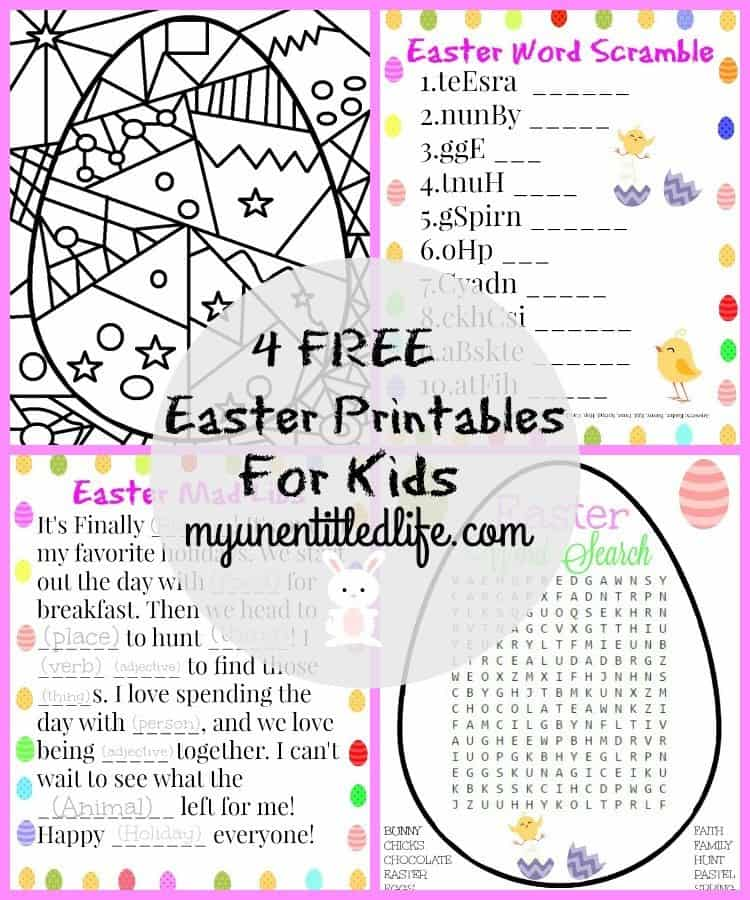 Easter Printable Activities For Kids