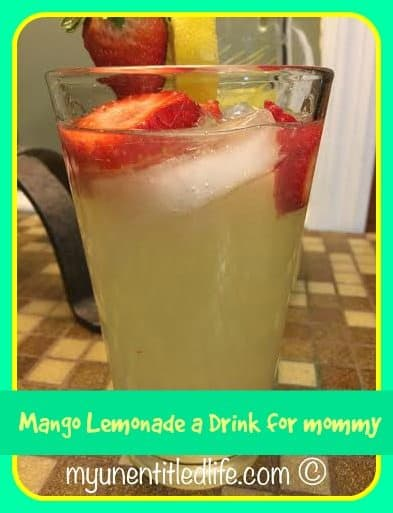 mango lemonade adult drink recipe