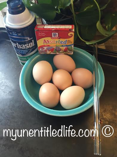 shaving cream easter eggs ingredients needed