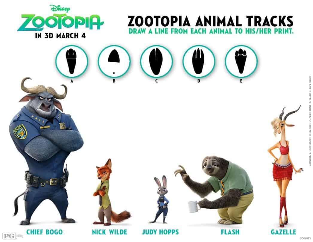 zootopia printable