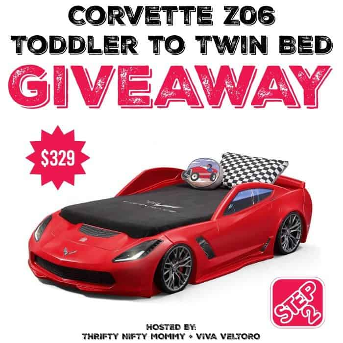 step 2 corvette twin bed giveaway