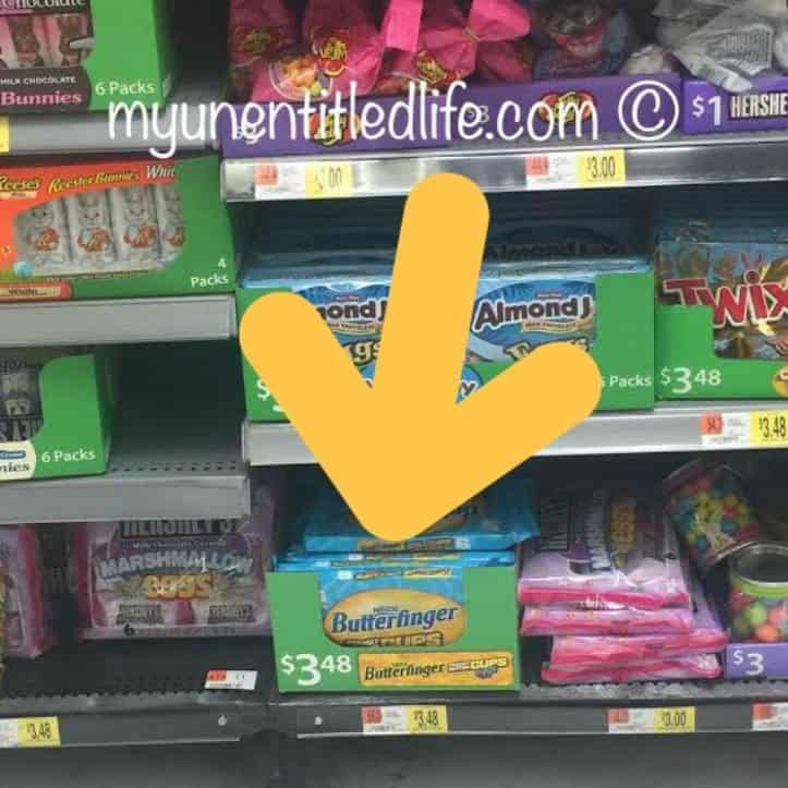 where you can find butterfinger eggs 6 pack on shelf at walmart
