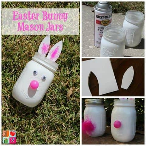 easter bunny mason jars tutorial diy