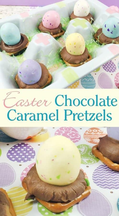 easter chocolate caramel pretzel recipe