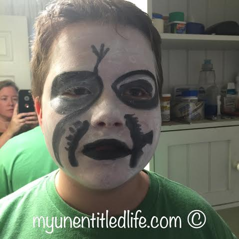 making up my kid for his Lion King performance