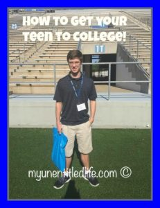 How to get your teen to college #ad