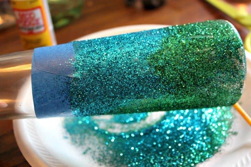 glitter vase gift