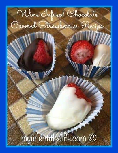 wine infused chocolate covered strawberries...