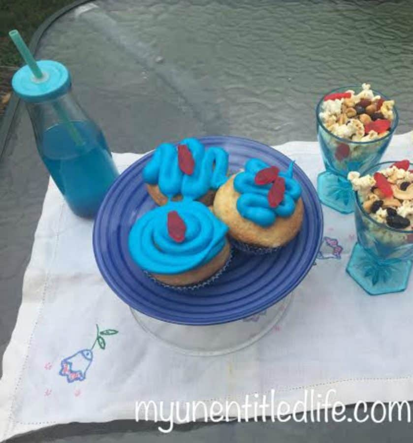shark themed party with fun food