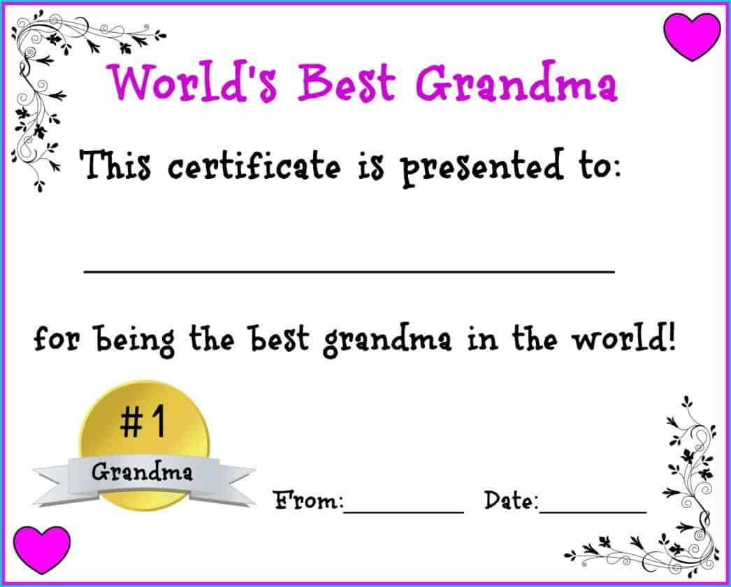 worlds best grandma free printable