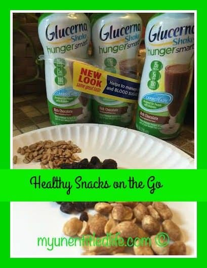 healthy snacks to eat on the go to prevent the shakes