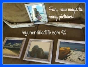 Fun new ways to hang pictures in your favorite room!
