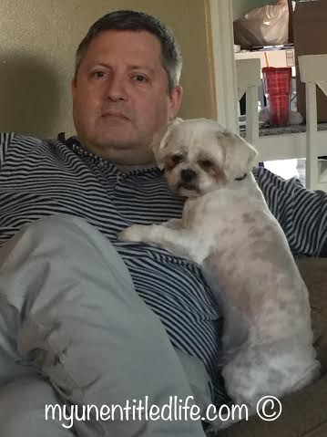 hubby and snowball