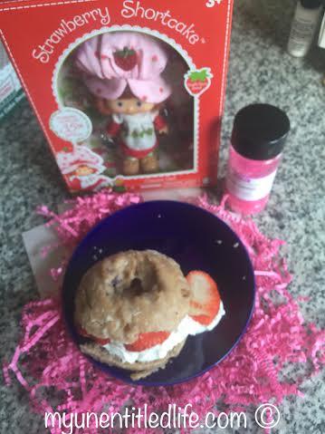 strawberry shortcake breakfast doughnut