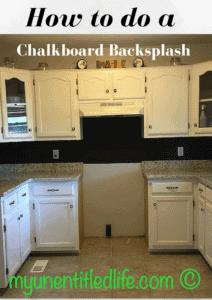 How to make a chalkboard backsplash in your kitchen! #diy #tutorial