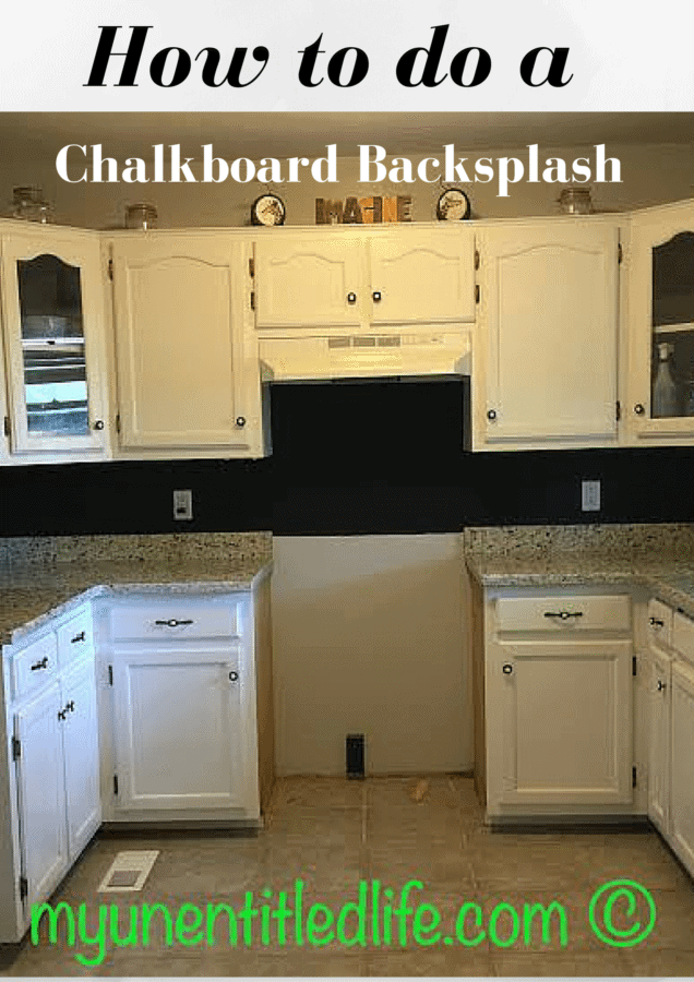how to do a chalkboard backsplash in your kitchen