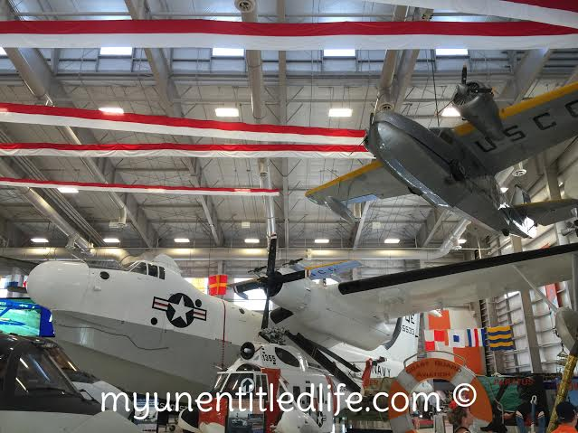 airplanes hanging in naval air museum perdido key